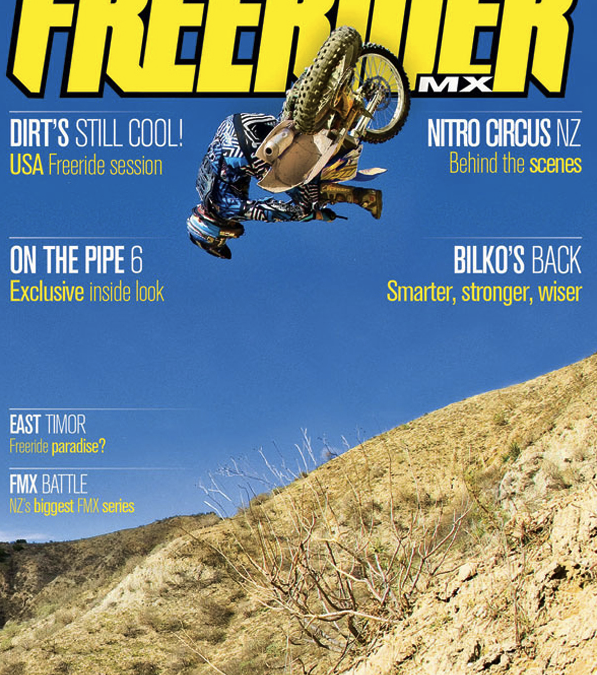 Steven Haughelstine Makes the cover of Freerider Mag